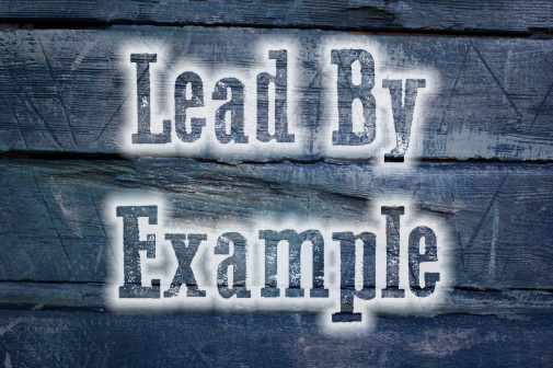 Lead by example Concept